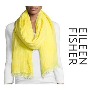 NEW Eileen Fisher Airy Modal Linen Maltinto Scarf